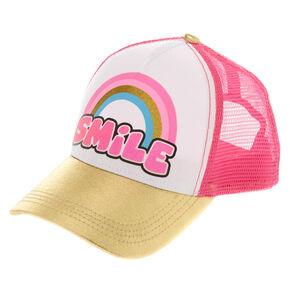 Pink   Gold Smile Baseball Cap 2b8b602d7dfa
