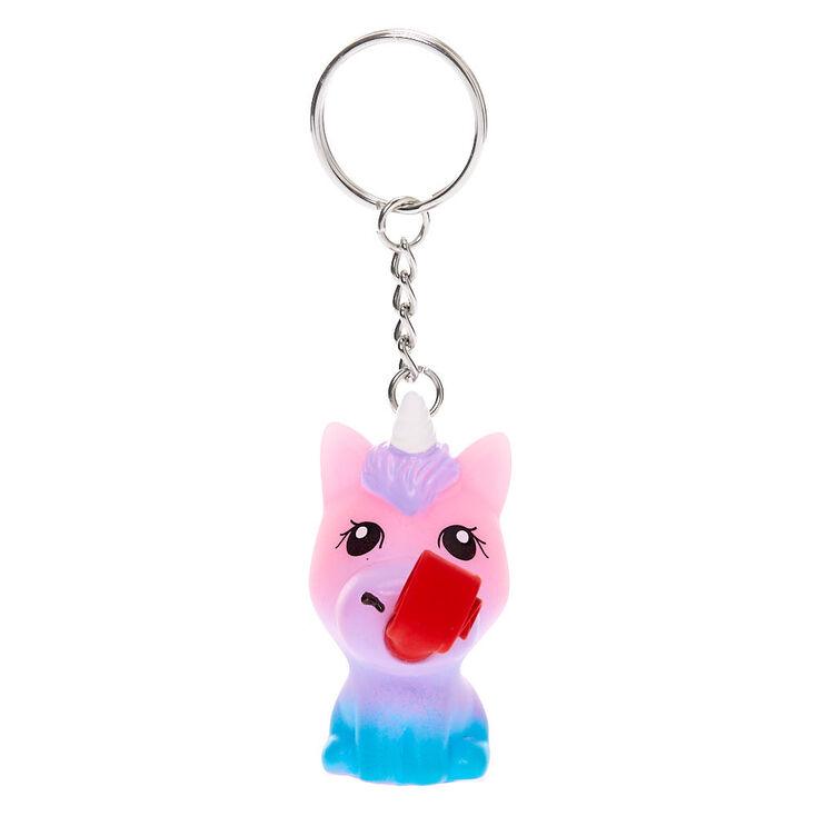 Rainbow Unicorn Tongue Pop Keychain,