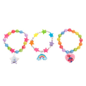 Trolls World Tour Beaded Stretch Bracelets – 3 Pack,