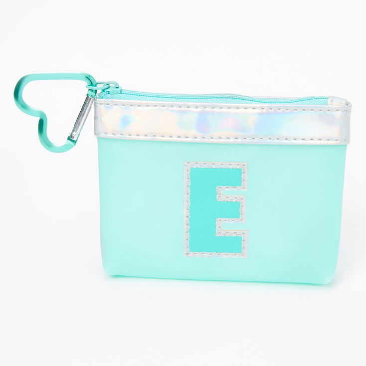 Blue Initial Coin Purse - E,