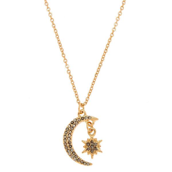 Claire's - moon & star pendant necklace - 1