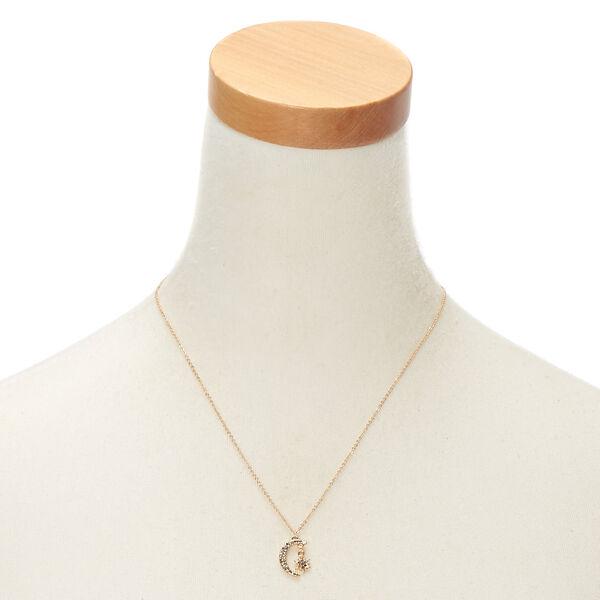 Claire's - moon & star pendant necklace - 2