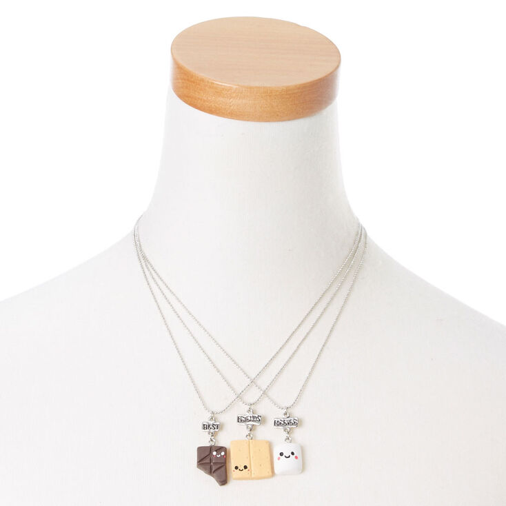 Best Friend S'mores Pendant Necklaces - 3 Pack,