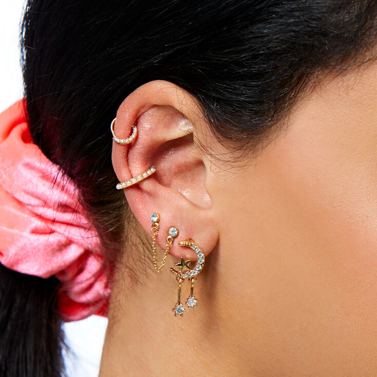 Moon and Stars Ear Stack Set,