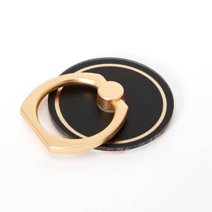 Matte Black Gold Stripe Ring Stand,