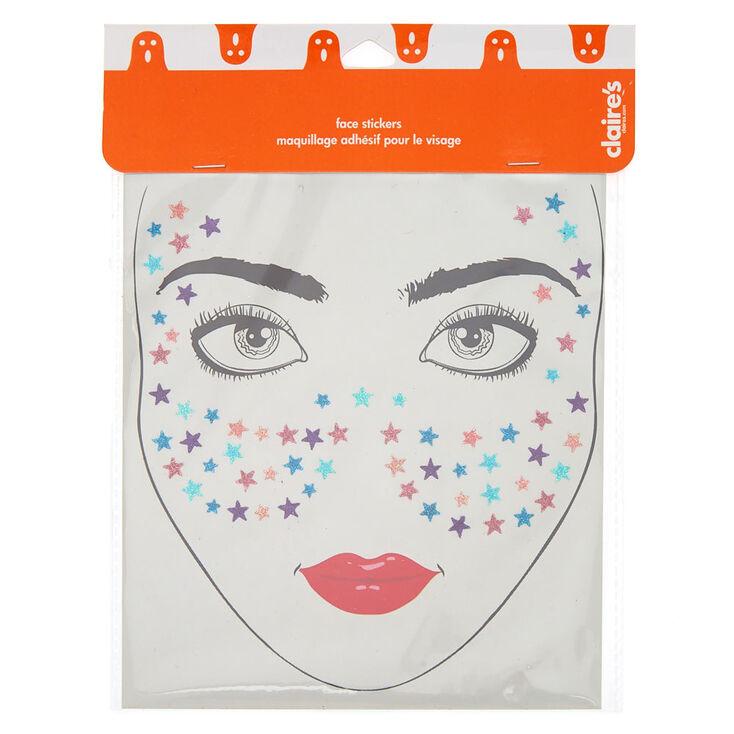 Maquillage Halloween Hello Kitty.Rainbow Glitter Stars Face Stickers