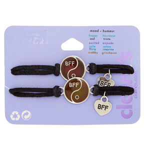 Mood Yin & Yang Stretch Friendship Bracelets - 2 Pack,