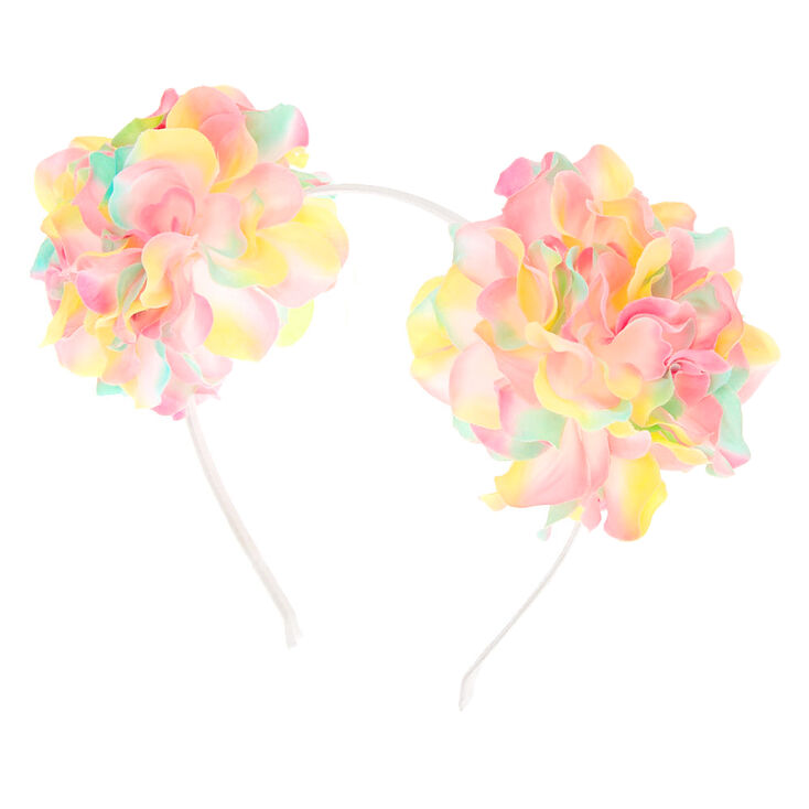Ombre Pastel Flower Pom Pom Ears,
