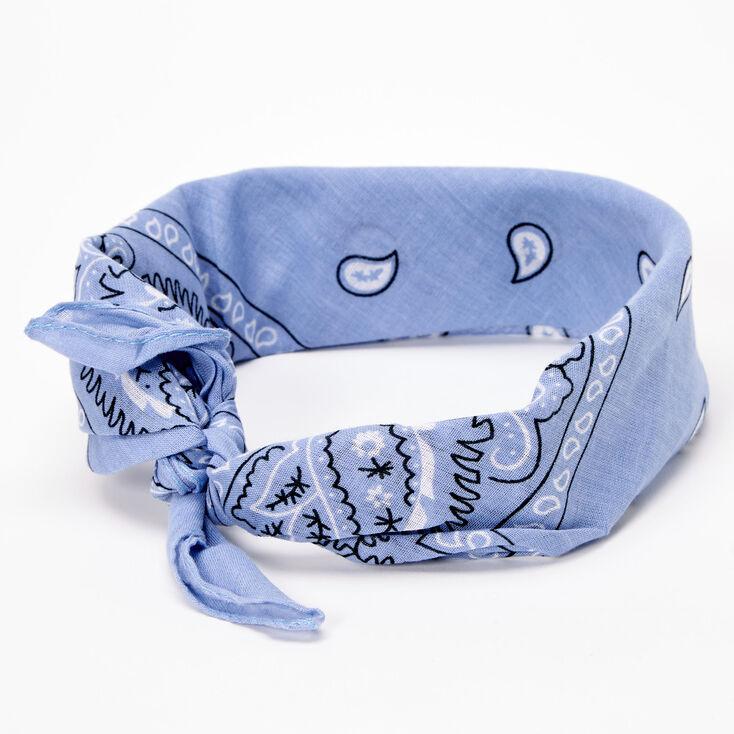 Paisley Bandana Headwrap - Chambray Blue,