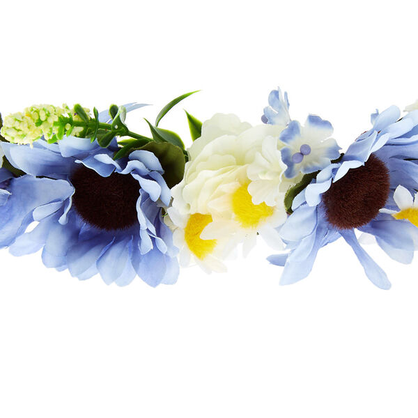 Claire's - mixed daisy flower crown headwrap - 2
