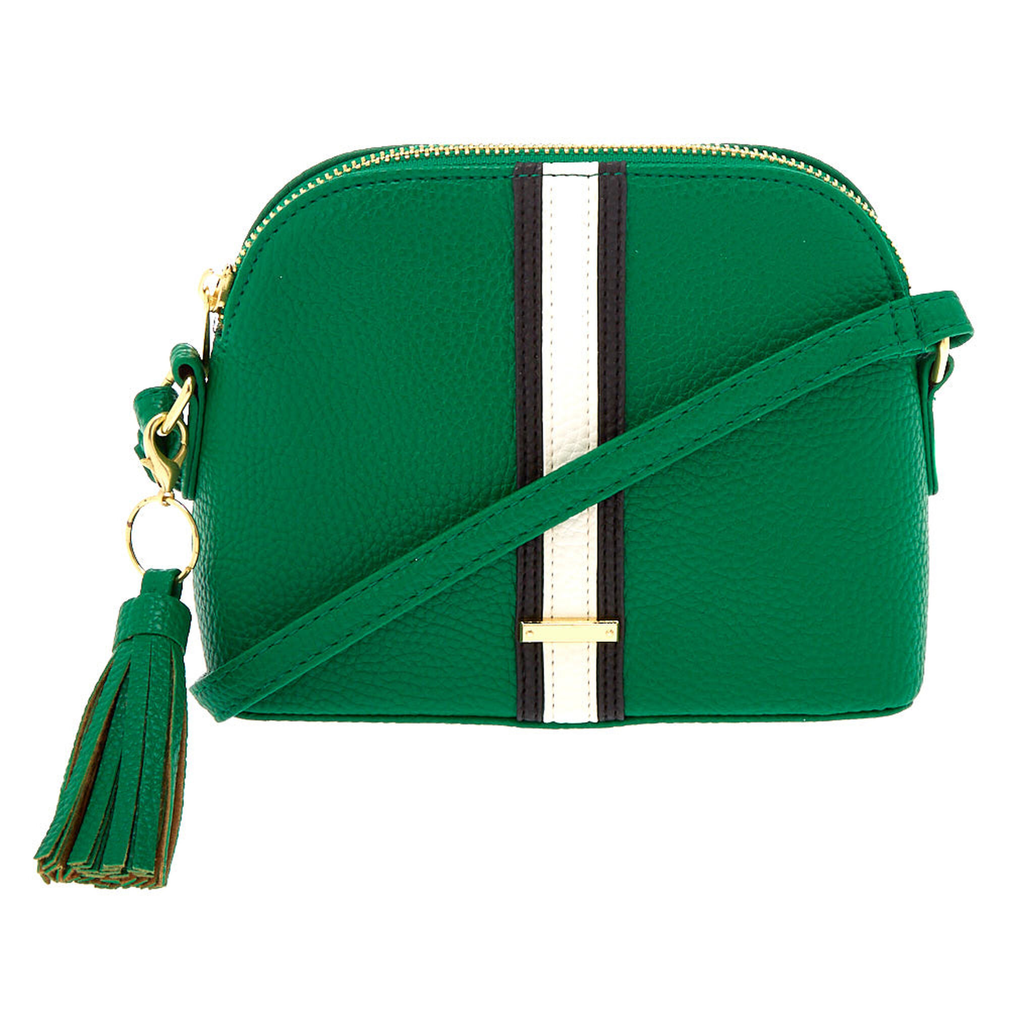 Striped Crossbody Bag Green Claire S