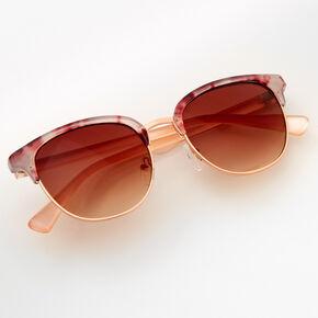 Tortoiseshell Purple Browline Sunglasses,
