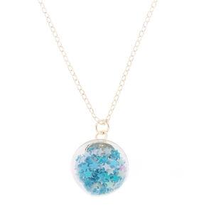 Unicorn Confetti Globe Pendant Necklace,