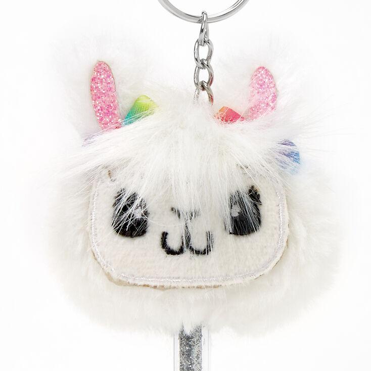 Llama Mini Keychain Pen - White,