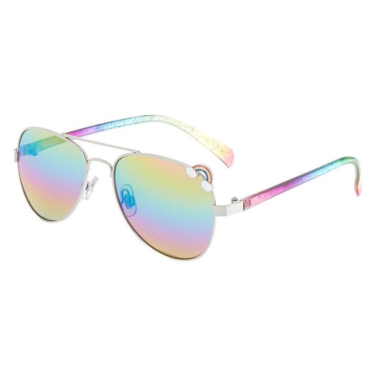 4519a0cc8c Claire s Club Aviator Sunglasses - Rainbow