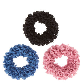 Medium Denim Wash Hair Scrunchies - 3 Pack,