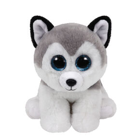 Ty Beanie Boo Small Buff The Husky Dog Plush Toy,