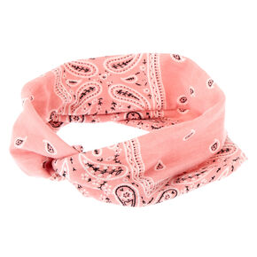 Go to Product: Wide Jersey Bandana Headwrap - Rose Pink from Claires