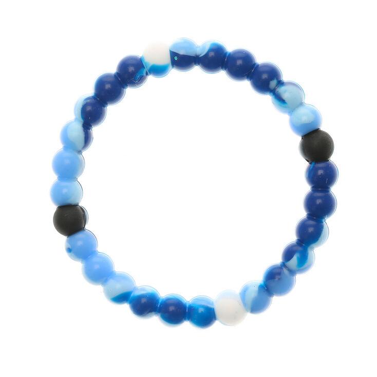 Marble Swirl Fortune Stretch Bracelet - Blue,