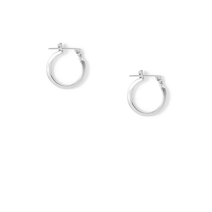 Silver 15MM Hoop Earrings,