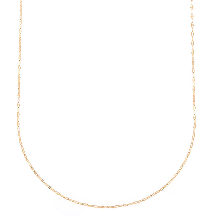 Gold Shimmer Chain Necklace,