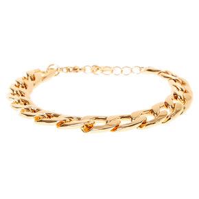 Bracelet chaîne à maillons couleur doré,