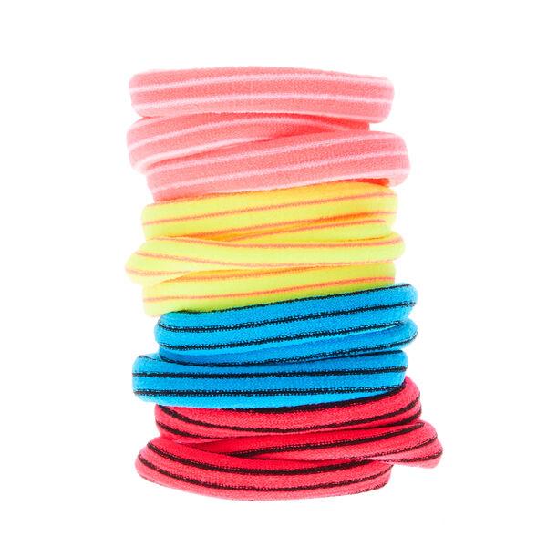 Claire's - neon striped hair bobbles - 1