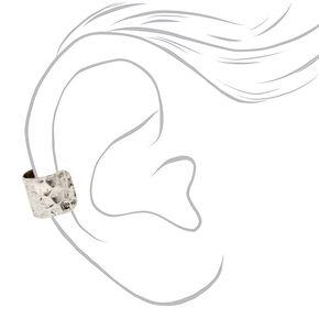 Silver Burnished Leaf Ear Cuffs - 3 Pack,