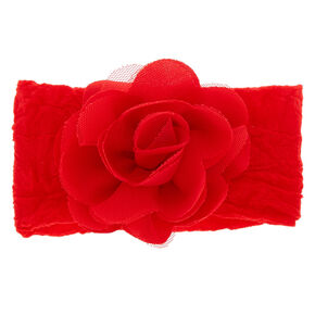 Claire's Club Floral Headwrap - Red,