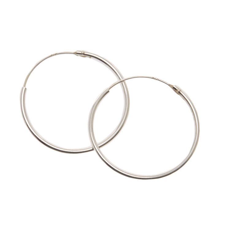 Sterling Silver 20MM Hoop Earrings,