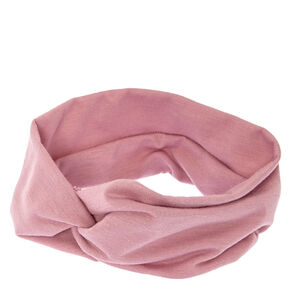 Wide Jersey Twisted Headwrap - Mauve,