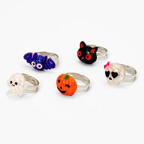 Halloween Pumpkin Box Rings - Orange, 5 Pack,