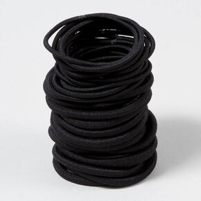 Mixed Solid Hair Ties - Black, 30 Pack,