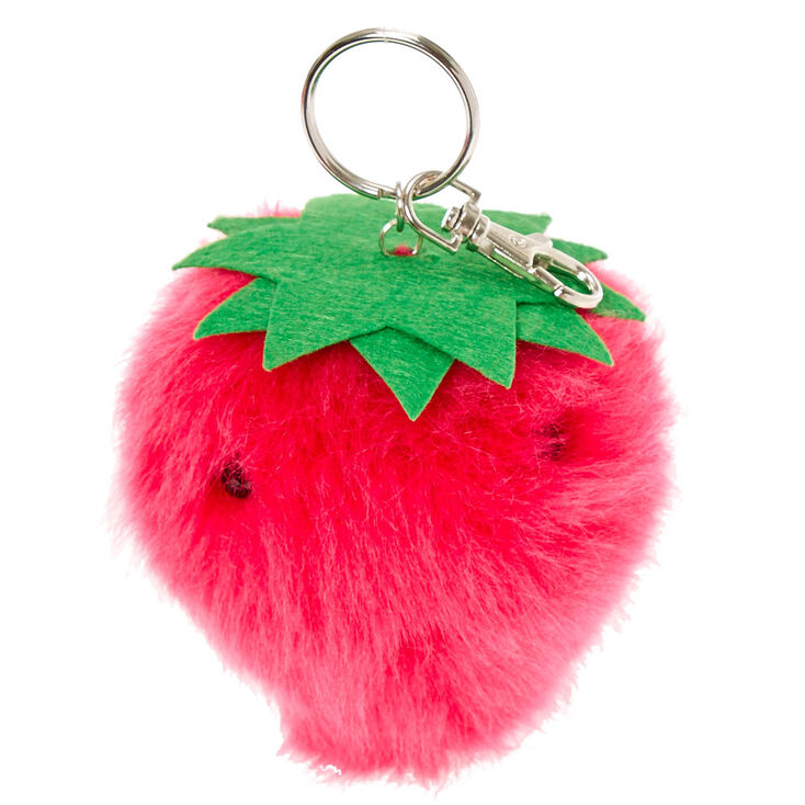 6aff3ddb5 Strawberry Pom Pom Scented Key Ring | Claire's US