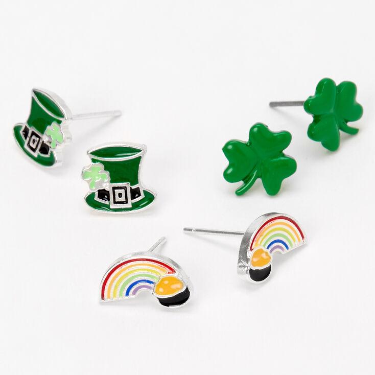 Clous d'oreilles fête de la Saint-Patrick - Lot de 3,