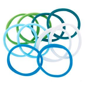Ocean Vibes Hair Ties - Blue, 10 Pack,