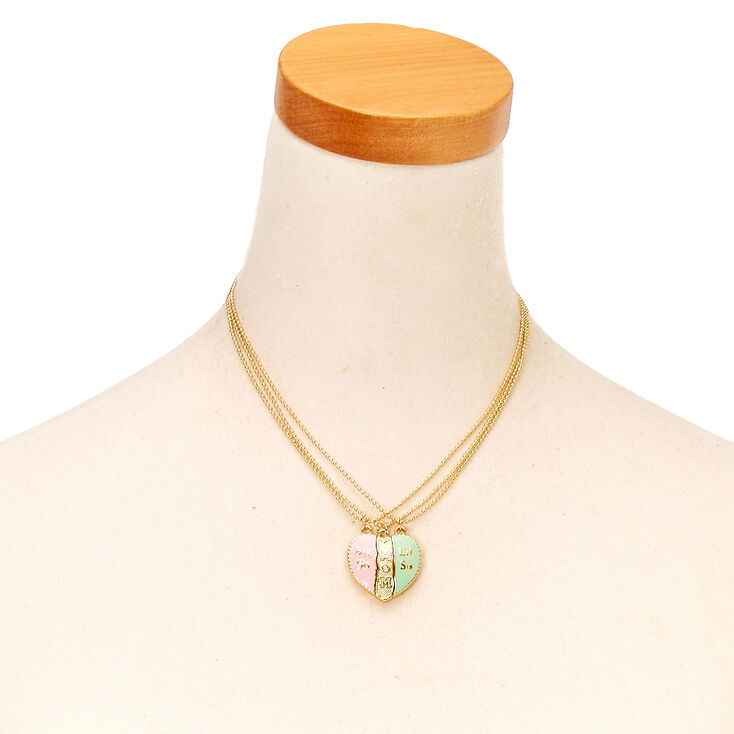 Best Friends Mother & Daughters Split Heart Pendant Necklaces,
