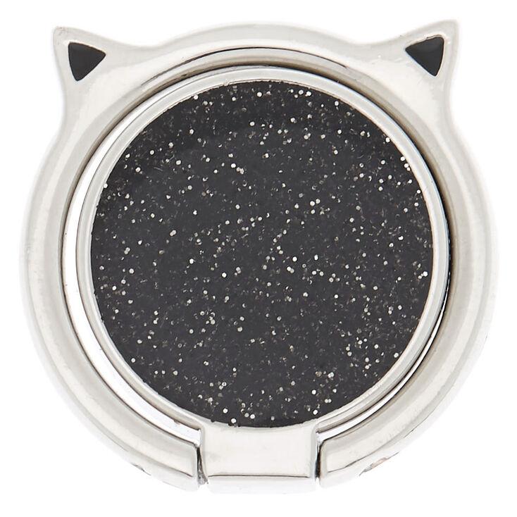 Silver Caticorn Ring Stand - Black,