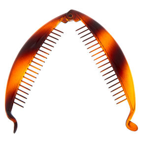Tortoiseshell Banana Hair Claw - Brown,