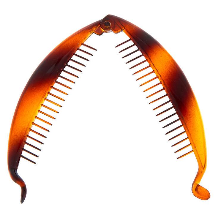 Tortoiseshell Banana Hair Claw - Brown,