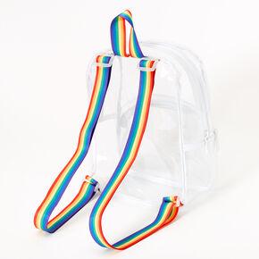 Petit sac à dos aux bretelles arc-en-ciel - Transparent,