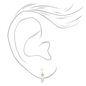 Mixed Metal Floral Love Stud & Hoop Earrings - 20 Pack,