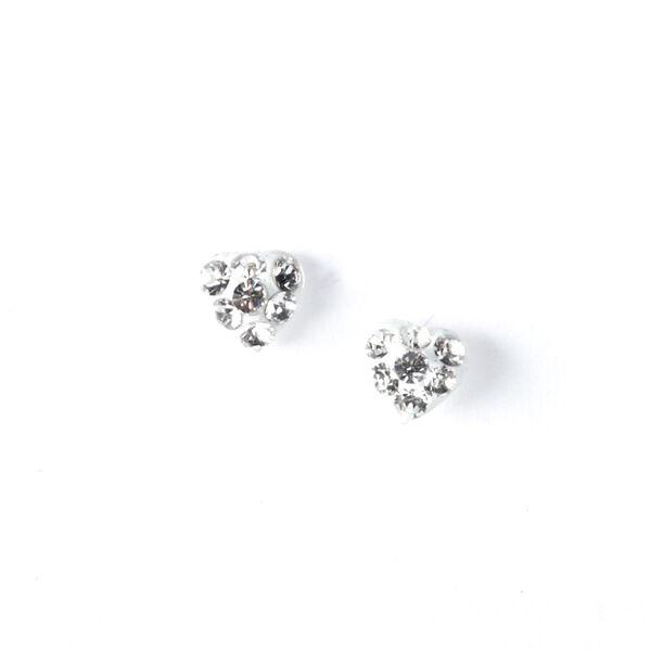 Claire's - sterling mini heart stud earrings - 1