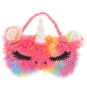 Furry Rainbow Unicorn Sleeping Mask,