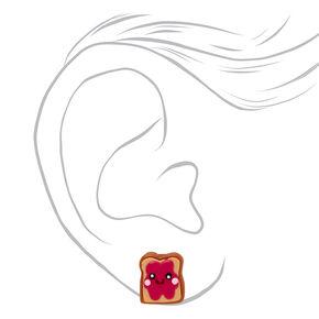 Peanut Butter and Jelly Sandwich Stud Earrings,