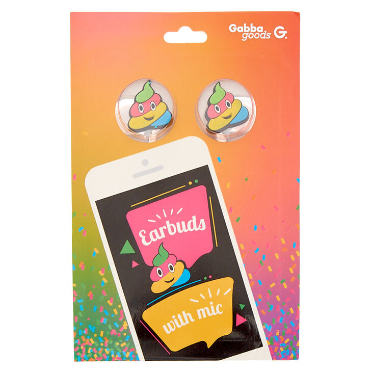 Gabba Goods® Rainbow Poop Earbuds With Mic
