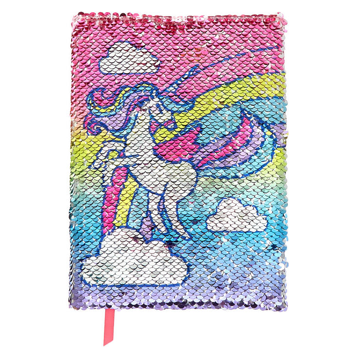 Claire's Miss Glitter the Unicorn Donut Reversible Sequin Diary