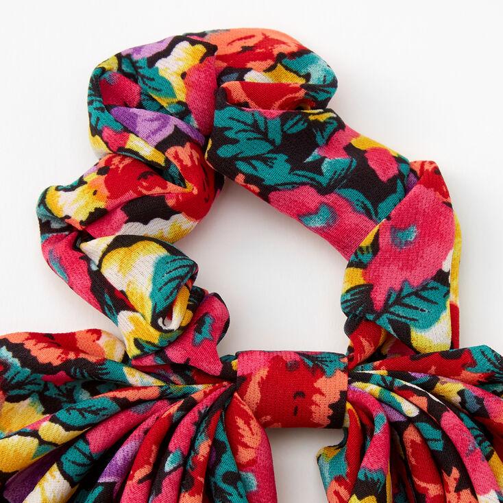 Chouchou foulard floral,
