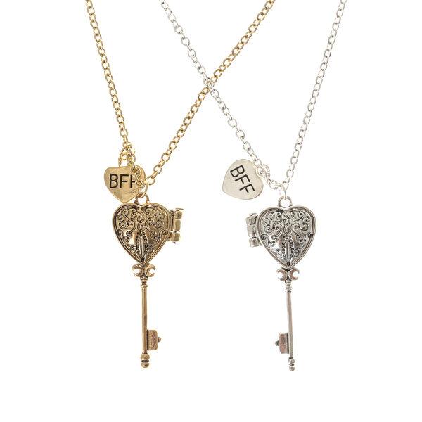Claire's - best friends key locket necklaces - 1