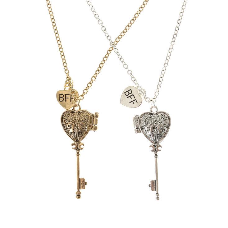 Best friends key locket necklaces claires best friends key locket necklaces aloadofball Images